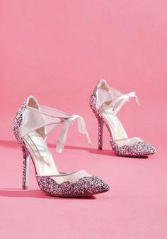 Viva la Diva Metallic Heel in Silver