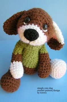 Puppy crochet pattern, amigurumi