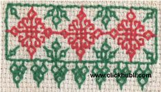 Embroidary Borders | Hand Embroidered | Kashida | Kasuti