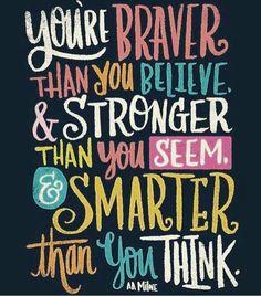 Believe in yourself. .