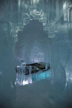 Ice Suite at Jukkasjärvi Ice Hotel, Sweden, bucket list but only for one night! BURR