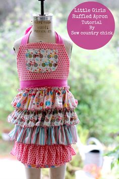 Girls Ruffled Apron Tutorial- Sew Country Chick