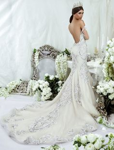 Dar Sara Wedding Dresses 2014 Collection with Glamorous Swarovski Crystals Part I: http://www.modwedding.com/2014/10/09/dar-sara-wedding-dresses-2014-collection-glamorous-swarovski-crystals-part/ #wedding #weddings #wedding_dress