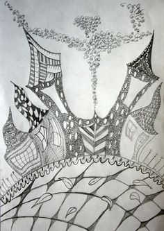 Ludy svet / Crazy world (zentangles, doodles) by Renata Cekovic