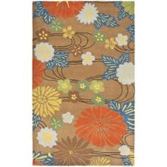 Handmade Soho Brown New Zealand Wool Rug (5' x 8') $215