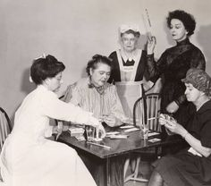 Faculty playing cards in Faculty Show 1952 :: Archives & Special Collections Digital Images