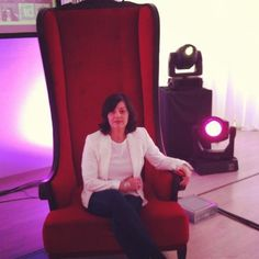 @DelphineRB on the queen chair atThe Sarajevo Marketing Kingdom 21/05/12 #thesocialbureau