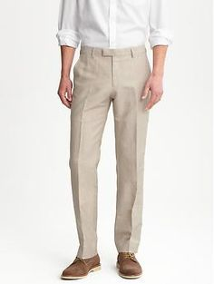 Tailored wool/linen suit pant | Banana Republic