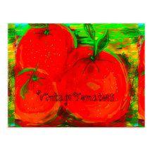 """""""Vintage Tomatoes"""" postcard"""