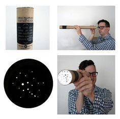 kin ship - starry night telescope (packaging for zodiac pillows)