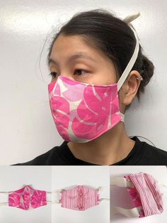 Fitted Mask Tutorial — Jana Lam Hawaii • accessories for an endless summer Fabric Glue, Lining Fabric, Face Masks, Serger Patterns, Filters, Hawaii, Beauty, Pest Control, Knives