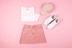 Sasha A-line Skirt Venice Pink $79.99 | #denimskirt #pinkdenimskirt #generalpants #insight51 #streetwear #stussytribeaustralia #puma