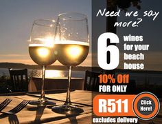 The Beach House Pack 6 wines for only unbeatable! Wine House, Wine Online, Say More, Wines, Wine Glass, Beach House, Seafood, Packing, Beach Homes