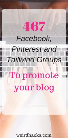 List of Tailwind tribes, Pinterest groups and Facebook groups to join and promote your post #onlinebusiness #startup #followback #entrepreneur