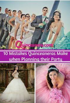 Mistakes | quinceanera | Party Planning | Pink Dresses | White Dress | Turquoise Dress | Quince Court