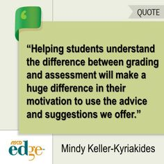 This ASCD EDge blogger says assessment and grading are NOT the same thing. Do you agree?