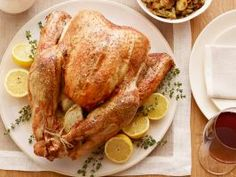 Perfect Roast Turkey recipe from Ina Garten via Food Network. I've made this for the past 5 years. Highly recommend Ina's Classic Gravy to pair along with it. Classic Thanksgiving Menu, Traditional Thanksgiving Menu, Vegan Thanksgiving, Thanksgiving Sides, Hosting Thanksgiving, Thanksgiving Desserts, Christmas Desserts, Food Network Recipes, Cooking Recipes