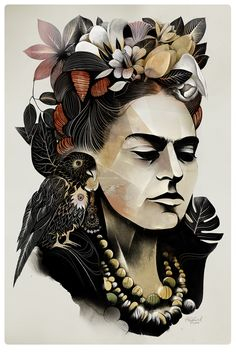 Frida - alexey kurbatov karikatür - portre frida kahlo, illustration ve ume Frida E Diego, Art Fauvisme, Art Amour, Street Art, Wall Street, Graffiti Tattoo, Diego Rivera, Celebrity Portraits, Art Design