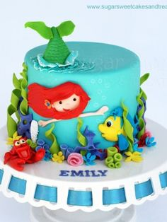 Mala sirena Ariel torta