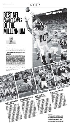 Best NFL Playoff Games of the Millennium|Epoch Times #newspaper #editorialdesign