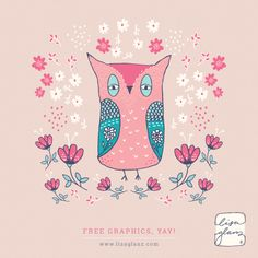 Love this darling little own clip art. FREE to download. She has a lot of cute, free graphics on her site.
