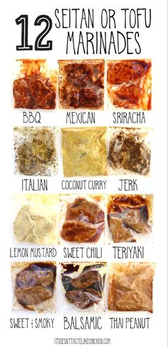 12 Seitan or Tofu Marinades! Each marinade takes less than 5 minutes to prepare … 12 Seitan or Tofu Marinades! Each marinade takes less than 5 minutes to prepare using pantry staples you might already have on hand. Let your… Continue Reading → Vegan Easy, Easy Healthy Recipes, Whole Food Recipes, Vegetarian Recipes, Cooking Recipes, Vegan Chicken Recipes, Cooking Tofu, Lunch Recipes, Breakfast Recipes