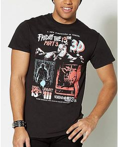 29d0346b89 Friday The 13th Part 3 T Shirt - Spencer s Friday The 13th Shirt