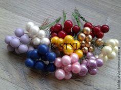 Купить Ягоды на проволоке, 1 см - золотой, ягоды, ягода, Ягодки, ягодка, ягоды и листья