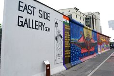 The East Side Gallery is more than 1,000 metres of the Berlin Wall which was preserved to be used as a free art space.