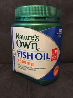 Nature's Own Fish Oil 1500MG 400 capsules #NaturesOwn