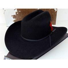 Resistol Cowboy Hat 4X Beaver Fur Felt Black Derrick 84bd1f3dbf54