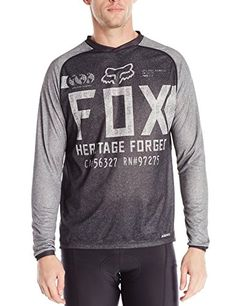 Fox Mens Indicator Long Sleeve Jersey Heather Black Medium -- Find out more about the great product at the image link. (Note:Amazon affiliate link)