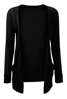 Fashion Womens Boyfriend Pocket Cardigan Shrug Sweater | shopswell