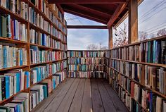 Porch library #books #bookshelves