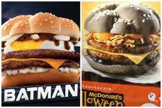 McDonald's lança hambúrgueres em versões Batman e Halloween Divulgação/McDonald's