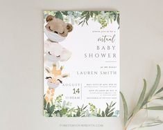 Virtual Baby Shower Template Covid Baby Shower Invite Shower | Etsy
