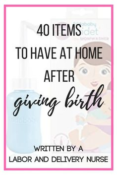 Are you wondering what postpartum essentials you need after you come home from the hospital? Let a Labor and Delivery Nurse tell you what's up! Postpartum is a challenging time for all new mamas, have these items available to make your maternity leave a breeze! #postpartum #postpartumrecovery #birth