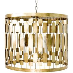 Leona Pendant, Gold - Lighting - Chandeliers