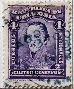 Personajes y motivos colombianos 1917 SANTANDER