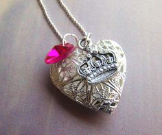 Queen of Hearts Essential Oil Diffuser Necklace  by EverTrend, $21.00