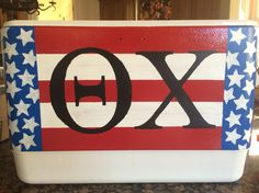 Formal cooler, theta chi, Stars and Stripes