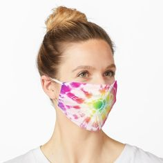 """""""Tie Dye Rainbow Sunburst"""" Mask by ninabmay 