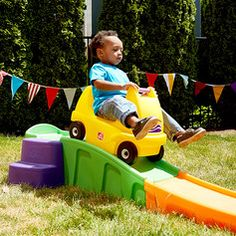 ROLLERCOASTER for kids in the backyard for 70 bucks! Heck yes! Track extensions too. Coolest play date idea on the block. Toddler & preschooler step 1 ROLLERCOASTER ride on toy for the back yard
