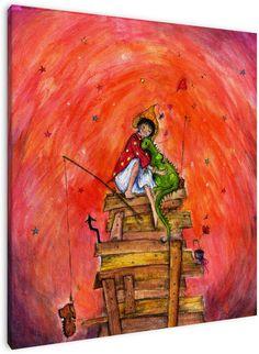 Lekker knuffelen. Werk van Keanne van de Kreeke, illustratrice van kinderboeken, voor in de kinderkamer.