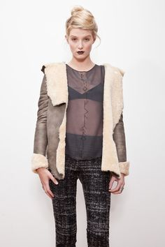 Curse of Busla Top in Charcoal Silk