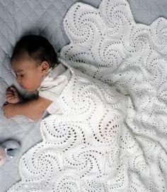 Pinwheel crochet afghan