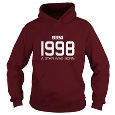 07 1998 July Star Was born T Shirt Hoodie Shirt VNeck Shirt Sweat Shirt Youth Tee for womens and Men