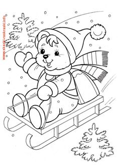 Family Christmas coloring page Coloring Sheets For Kids, Cute Coloring Pages, Disney Coloring Pages, Christmas Coloring Pages, Coloring Pages For Kids, Coloring Books, Illustration Noel, Art Drawings For Kids, Christmas Templates