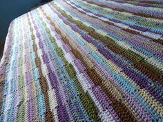 Ribbon Afghan - free stash buster afghan crochet patterns