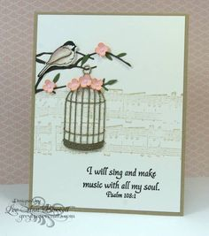CAS208/Musical by whippetgirl - Cards and Paper Crafts at Splitcoaststampers  vintage bird cage